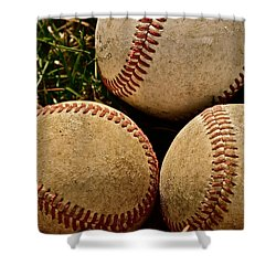 America's Pastime Shower Curtain by Bill Owen