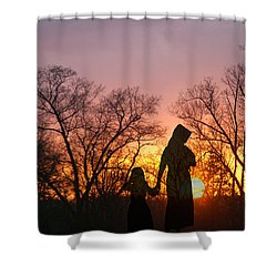 Amish Sisters Shower Curtain