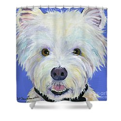 Amos Shower Curtain by Pat Saunders-White