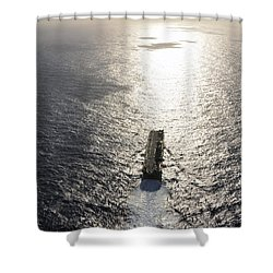 Amphibious Assault Ship Uss Boxer Shower Curtain by Stocktrek Images