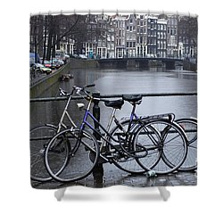 Amsterdam The Netherlands Shower Curtain by Bob Christopher
