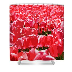 Amsterdam Tulips Shower Curtain by Phill Petrovic