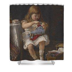 An Anxious Mother Shower Curtain by Percival de Luce