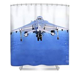 An Av-8b Harrier Jet Launches Shower Curtain by Stocktrek Images
