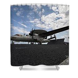 An E-2c Hawkeye Aircraft Prepares Shower Curtain by Stocktrek Images