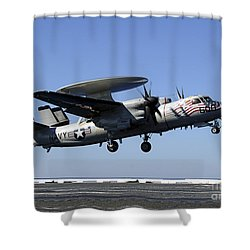 An E-2c Hawkeye Conducts A Touch-and-go Shower Curtain by Stocktrek Images