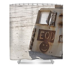 An Explosive Ordnance Disposal Logo Shower Curtain by Stocktrek Images