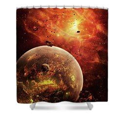 An Eye-shaped Nebula And Ring Shower Curtain by Brian Christensen