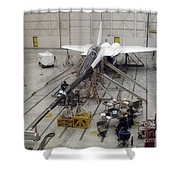 An F-15b Testbed Aircraft Undergoes Shower Curtain by Stocktrek Images