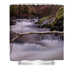 An Icy Flow Shower Curtain