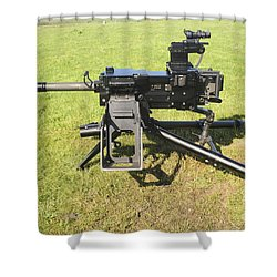 An Mk19 40mm Machine Gun Shower Curtain by Andrew Chittock