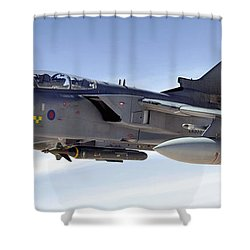 An Raf Tornado Gr-4 Takes On Fuel Shower Curtain by Stocktrek Images