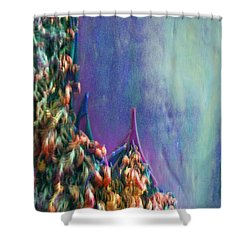 Shower Curtain featuring the digital art Ancesters by Richard Laeton