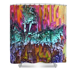 Shower Curtain featuring the digital art Ancient Footsteps by Richard Laeton