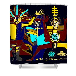 Ancients- Night Visit Shower Curtain