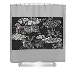 And Sheep Can Fly Shower Curtain