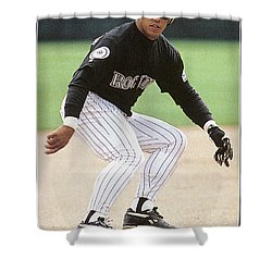 Andres Galarraga (1961- ) Shower Curtain by Granger