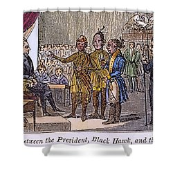 Andrew Jackson: Native Americans Shower Curtain by Granger