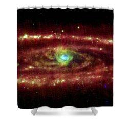 Andromeda Galaxy Shower Curtain by Nasa