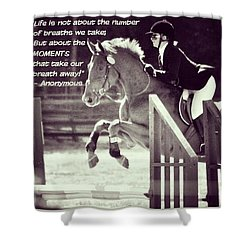 Andy And Chrissy Caber Farm Horse Shower Curtain by Anna Porter
