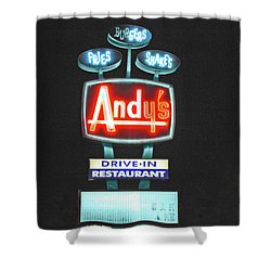 Andy's Drive-in Shower Curtain by Jost Houk