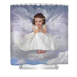 Angel 2 Shower Curtain by Rob Corsetti