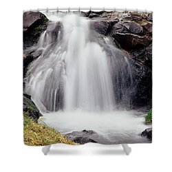 Angel Hair Shower Curtain by Sharon Elliott