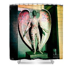 Shower Curtain featuring the photograph Angel In The City Of Angels by Nina Prommer