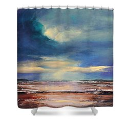 Angel Sky Shower Curtain by Toni Grote