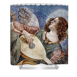 Angel With A Lute Shower Curtain by Granger