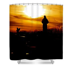 Angel's In The Sky Shower Curtain