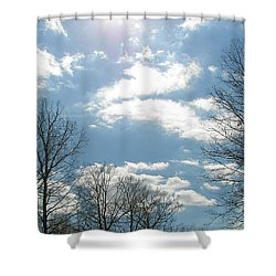 Shower Curtain featuring the photograph Angels On High by Pamela Hyde Wilson