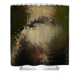 Shower Curtain featuring the painting Angry Monkey by George Pedro