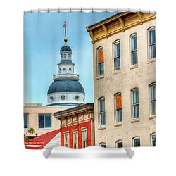 Annapolis Duomo Shower Curtain by Debbi Granruth