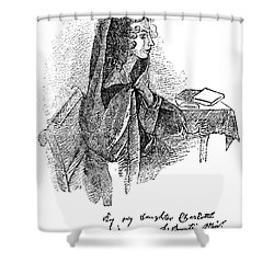 Anne Bront� (1820-1849) Shower Curtain by Granger