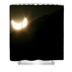 Shower Curtain featuring the photograph Annular Solar Eclipse At Sunset Number 2 by Lon Casler Bixby