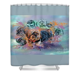 Shower Curtain featuring the digital art Another Birthday 112 Years by Kathy Tarochione