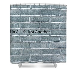 Another Brick Shower Curtain