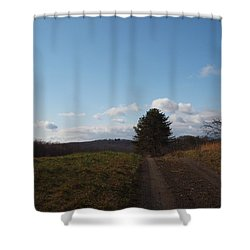 Another Road To Heaven Shower Curtain by Robert Margetts