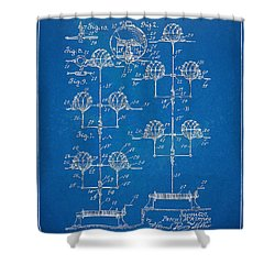 Anti-aircraft Air Mines Patent Artwork 1916 Shower Curtain by Nikki Marie Smith
