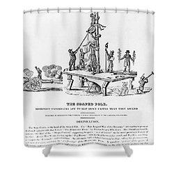 Anti-democrat Cartoon Shower Curtain by Granger