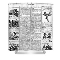 Anti-slavery Broadside Shower Curtain by Granger