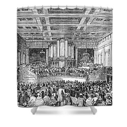 Anti-slavery Meeting, 1842 Shower Curtain by Granger