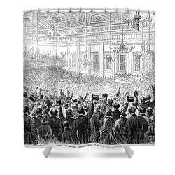 Anti-slavery Meeting, 1863 Shower Curtain by Granger