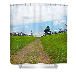 Shower Curtain featuring the photograph Antietam Battle Of Bloody Lane by Cindy Manero
