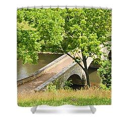 Shower Curtain featuring the photograph Antietam's Burnside Bridge by Cindy Manero