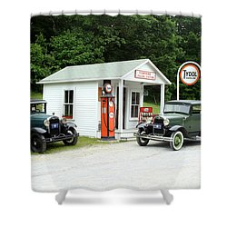 Antique Cars Shower Curtain by Ted Kinsman