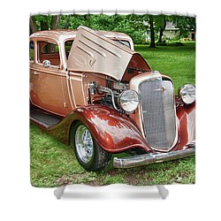 Antique Chevy  7757 Shower Curtain by Guy Whiteley
