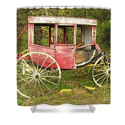 Shower Curtain featuring the photograph Old Horse Drawn Carriage by Sherman Perry