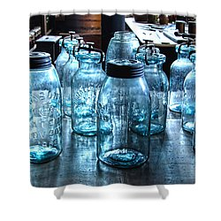 Antique Mason Jars Shower Curtain by Mark Sellers